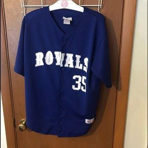 Kansas City Royals #35 Hosmer Button Jersey